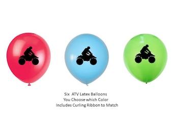 ATV Balloons, ATV Vehicle Party, All Terrain Vehicle Birthday