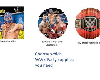 WWE Party Napkins, WWE Balloons, World Wrestling Entertainment Party Napkins Balloons