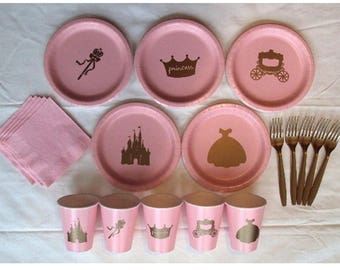 Princess Plates Alone for 10 people