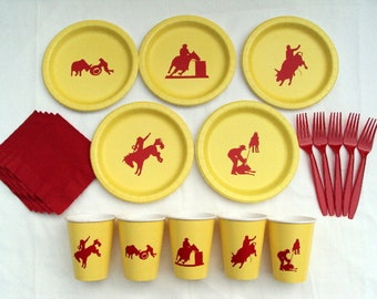 """Rodeo 9"""" Plates Alone - Set of 5 designs"""