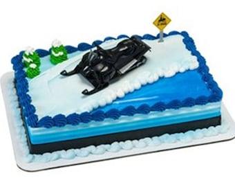 Snowmobile Cake Decorating Kit