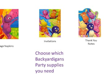 Backyardigans Party Supplies Napkins Invitations Thank You Notes