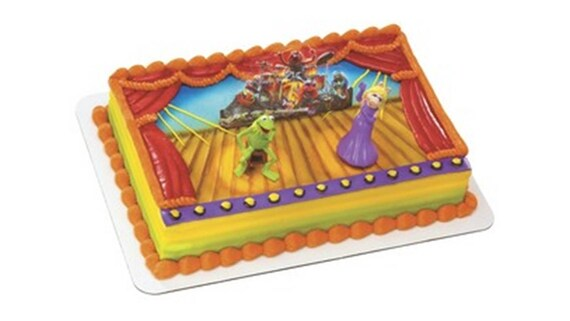 Muppets Cake Decorating Kit Kermit Miss Piggy