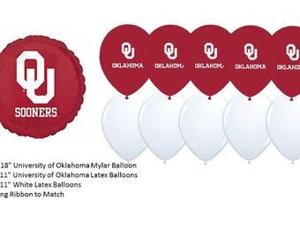University of Oklahoma Balloons, Sooners balloons, University of Oklahoma Sooners Balloons, Oklahoma University balloons