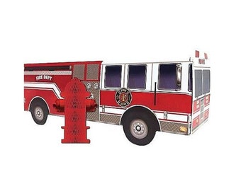 Fire Truck Centerpiece with Fire Hydrant