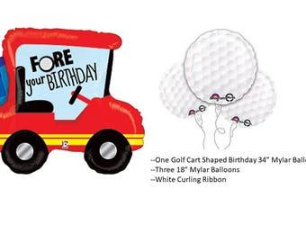 Golf Cart Balloon Set