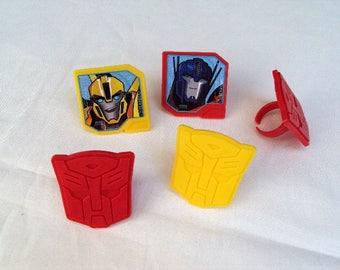 Transformers Optimus Prime & Bumblebee Plastic Rings