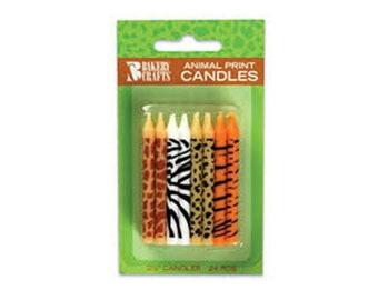 Animal Print Candles, Zebra Candles, Tiger Candles, Leopard Candles, Giraffe Candles
