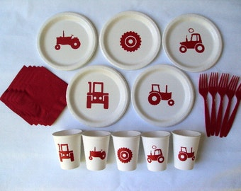 Tractor Tableware Set for 5 People