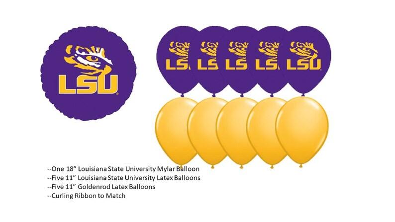 Louisiana State University Balloons LSU balloons