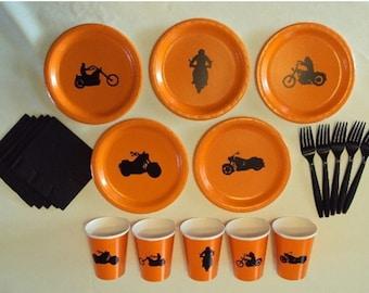 Motorcycle Tableware Set for 5 People