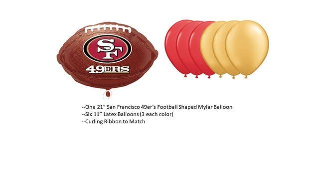 San Francisco 49ers Balloons