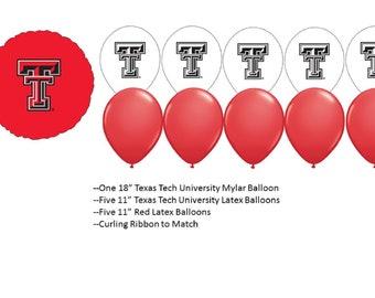 Texas Tech University Balloons, Texas Tech University Red Raiders Balloons