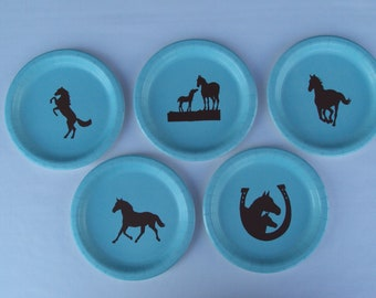 "Horse 9"" Dinner Plates alone"