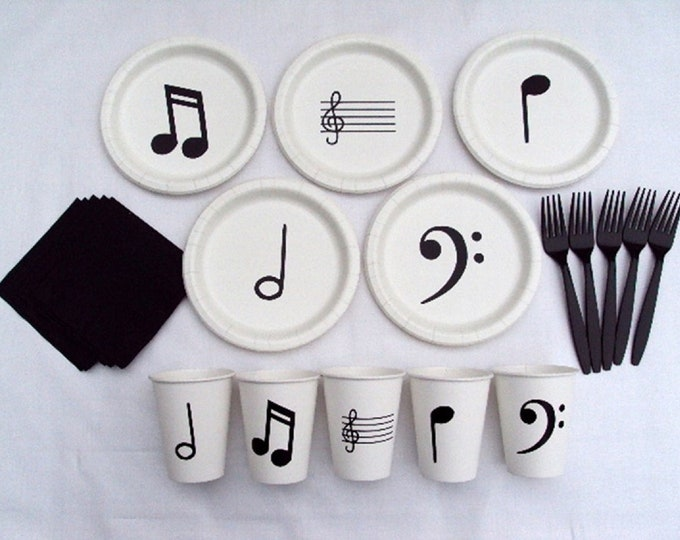 Music Note Tableware Set for 5