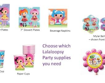 Lalaloopsy Plates, Lalaloopsy Napkins,  Lalaloopsy Balloons, Lalaloopsy Cups