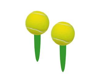 Tennis Picks, Tennis Cupcake Picks