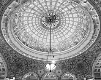 Cultural Center Tiffany Dome - Chicago historic landmark loop classic library architecture stained glass iconic downtown interior gift