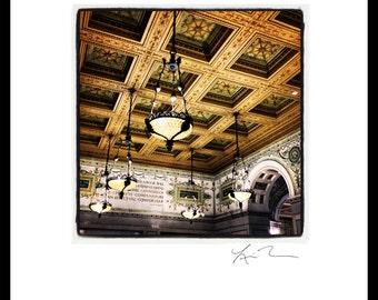 Cultural Center Ceiling - Photographic Print Canvas Wrap Chicago Photography Artwork fine art home fun decor city tiffany glass architecture