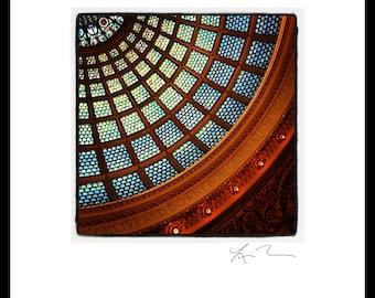 Cultural Center Dome - Photographic Print or Canvas Wrap Chicago Photography Artwork fine art home fun decor city tiffany glass architecture
