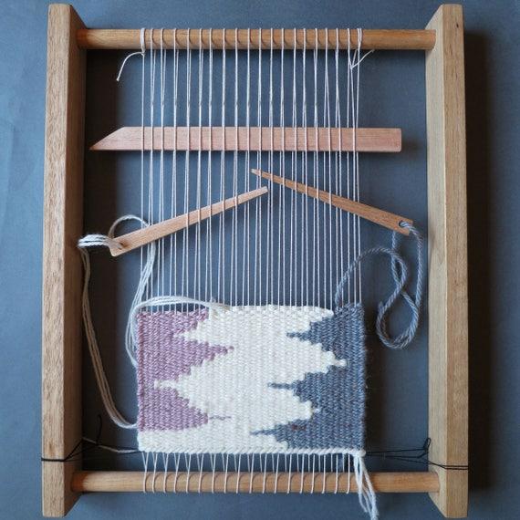 Weaving Loom Kit Weaving Frame Shed Stick Yarn Needle Etsy
