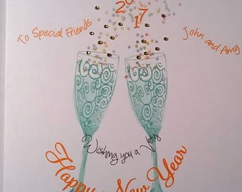 lovely personalised handmade new year card son daughter in law daughter son in law mum and dadsister brother in law friends