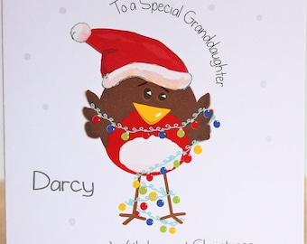 Robin Christmas Card Etsy