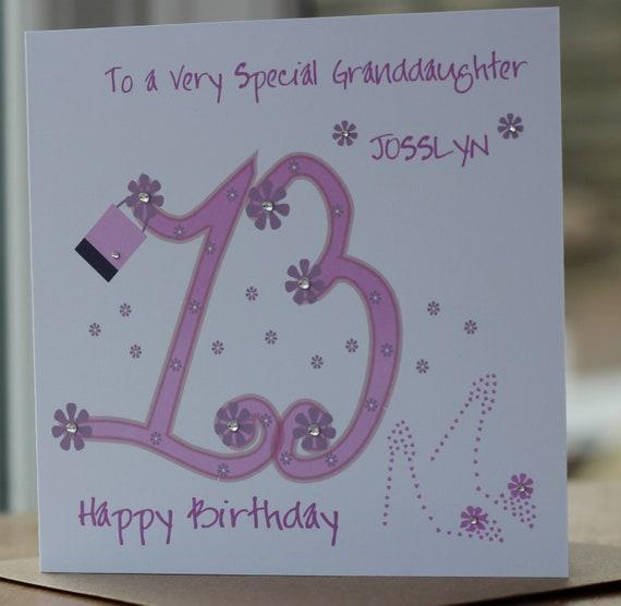 Handmade Personalised Birthday Card Daughter Granddaughter Sister Niece Friend
