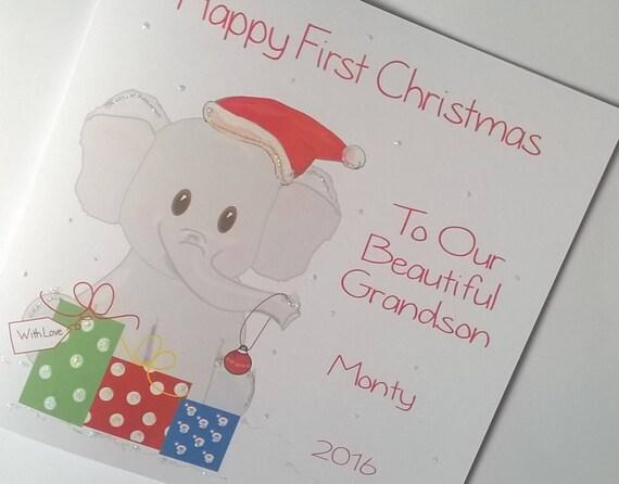 Tarjeta de Navidad hecho a mano personalizado hijo hija Nieto sobrina sobrino