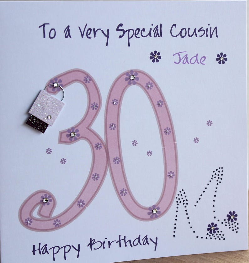 Beautiful Pesonalised Handmade 30th Birthday Card Shoes And