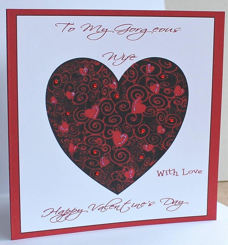 HUSBAND BOYFRIEND FIANCE, WIFE Personalised Valentines Day Card- GIRLFRIEND