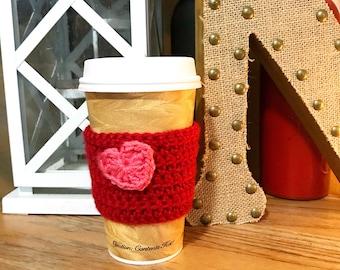 Red Valentine Reusable Coffee Sleeve