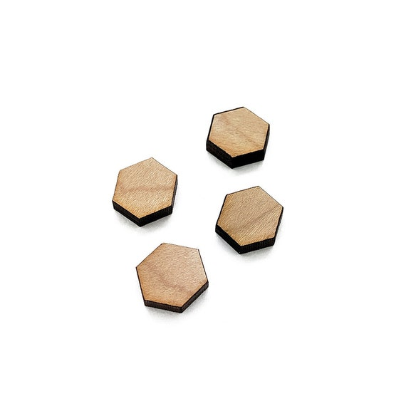Lotus Symbol Mini Wood Shape Wood Flat Back Laser Cut Wood Mini Wooden Shapes GT-00-0043 Wood Cabochon Earring Supplies
