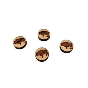 Mini Wood Shape Earring Supplies Laser Cut Wood GT-00-0280 Wood Cabochon Wine Glass /& Bottle Mini Wooden Shapes Wood Flat Back