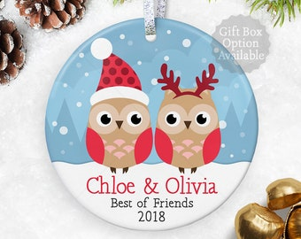 bff best friend gift for friends ornament long distance friendship gift best friend christmas gift going away gift best friend ornament - Best Friend Christmas Ornaments