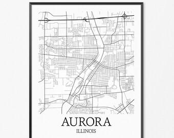 Aurora Illinois Etsy