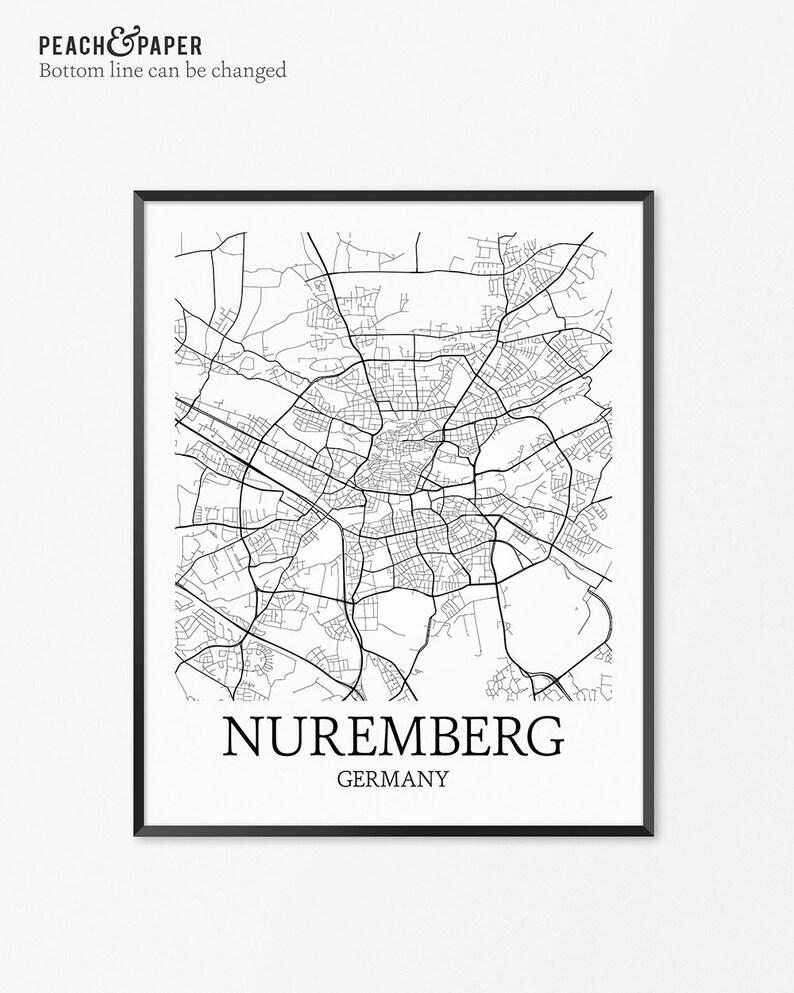 Nürnberg Karte Deutschland.Nürnberg Karte Kunstdruck Nürnberg Poster Karte Von Nürnberg Dekor Nürnberg Stadtplan Kunst Nürnberg Geschenk Nürnberg Deutschland Kunst