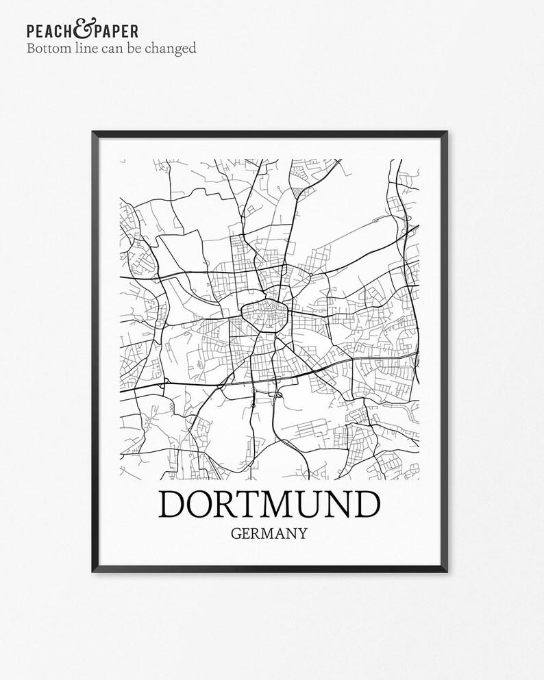 Dortmund On Map Of Germany.Dortmund Map Art Print Dortmund Poster Map Of Dortmund Decor Etsy