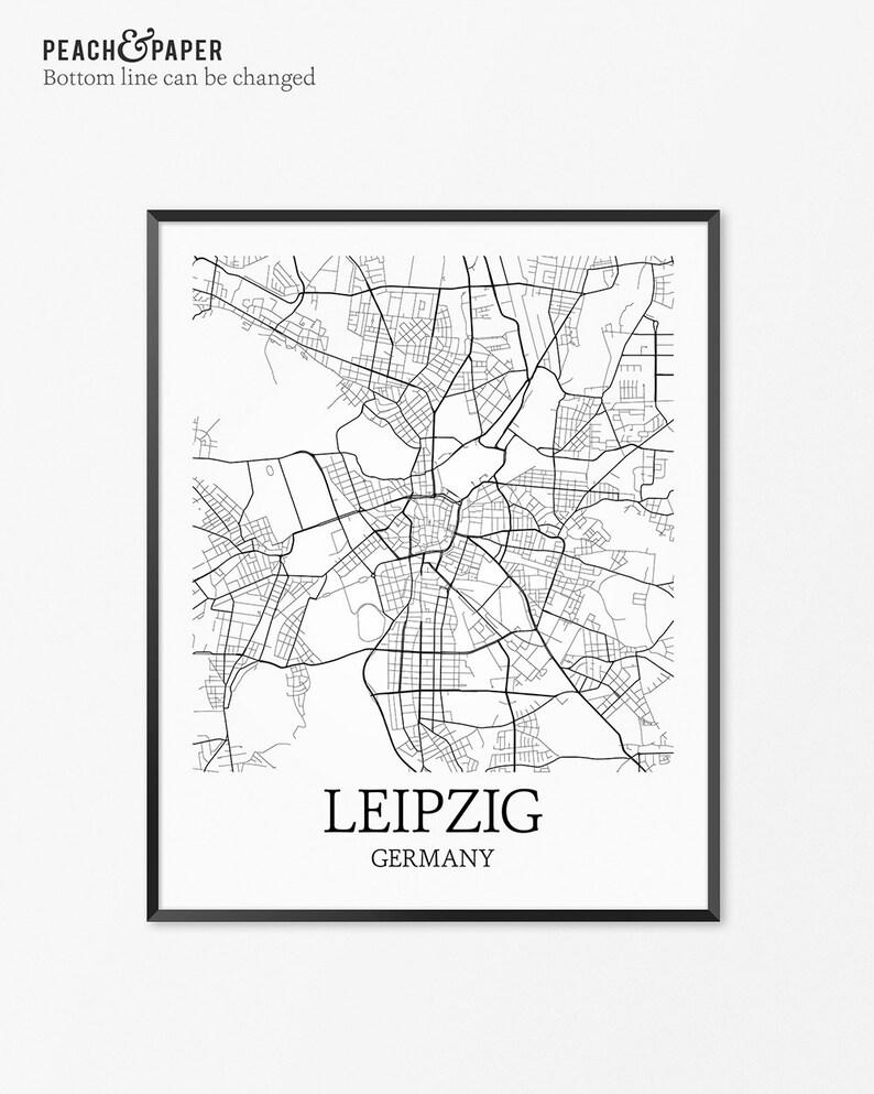 Leipzig Map Art Print Leipzig Poster Map Of Leipzig Decor Etsy