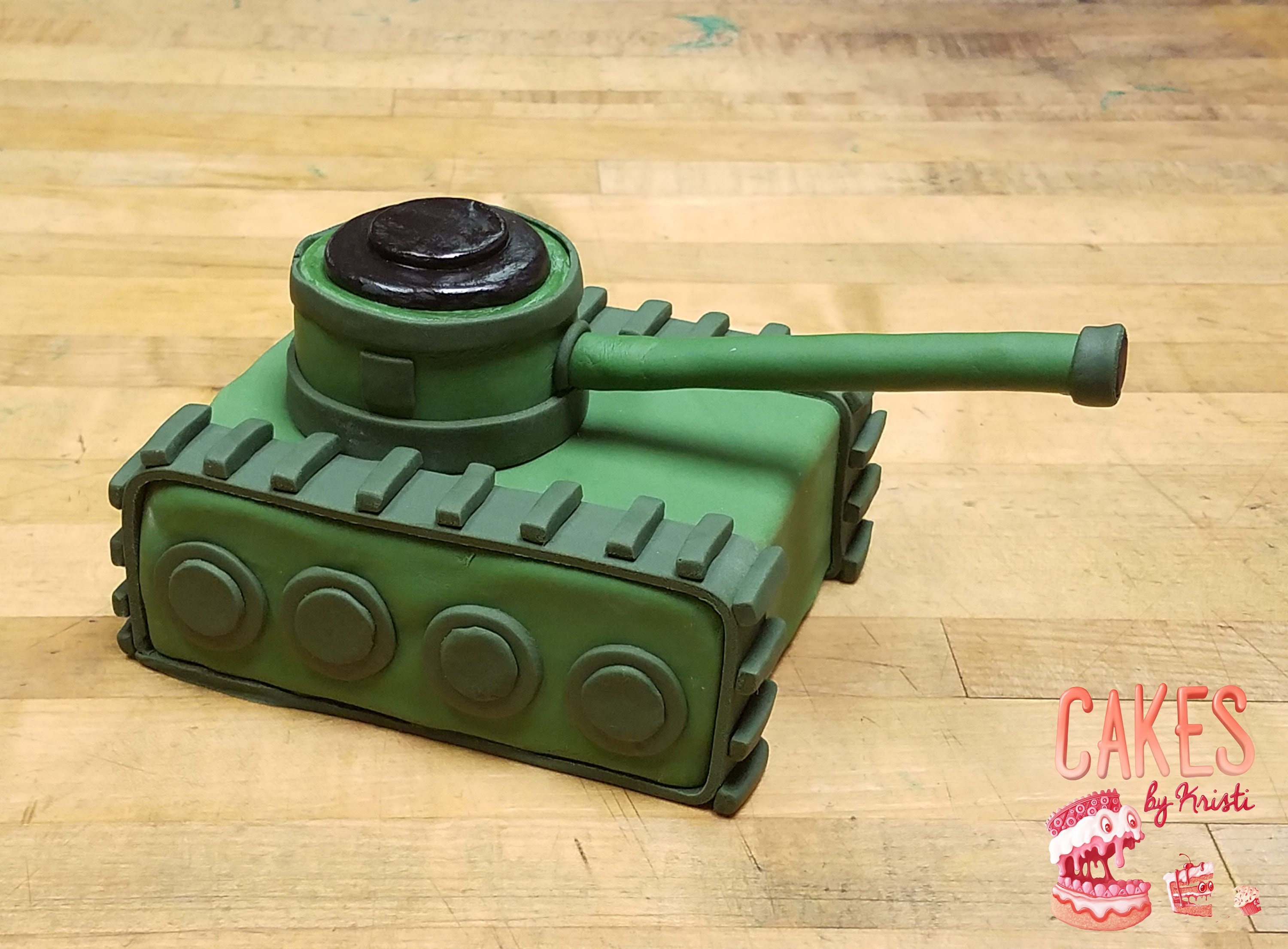 Fondant Tank Cake Topper MADE TO ORDER | Etsy