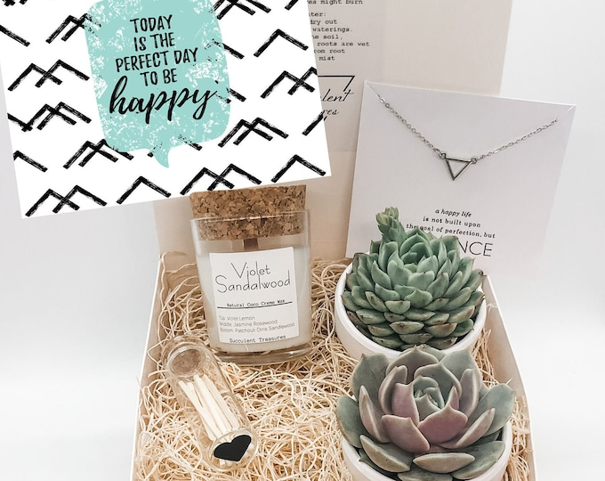 Succulent Gift Box Set |  Candle | Send a Gift | Customize