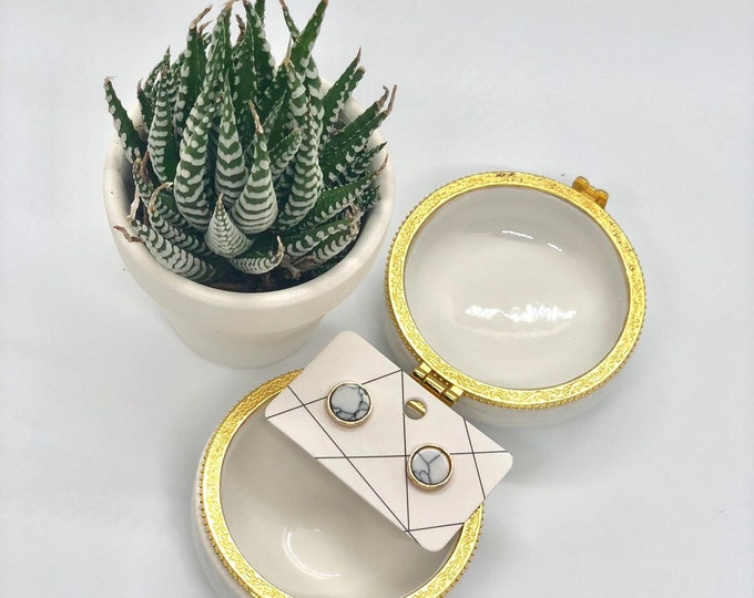 Succulent Treasures Gift Box Earrings & Jewerly Box |  Send a Gift | Customize