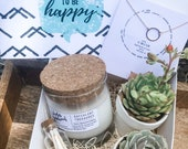 Succulent Gift Box Set Candle Send a Gift Customize
