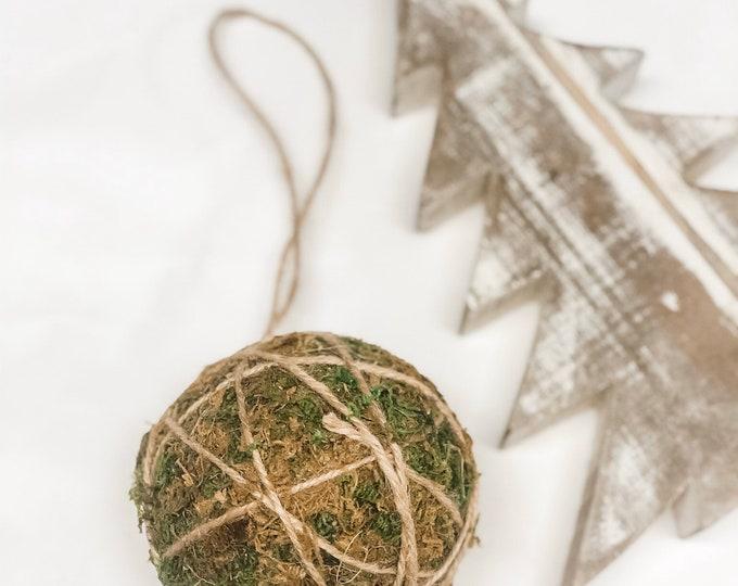 Moss Ball natural Ornament Tree decoration. Urban modern Tree decor