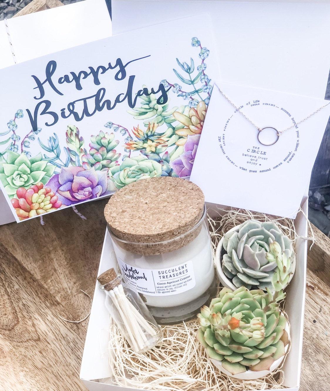 Happy Birthday Gift Box Succulent Set