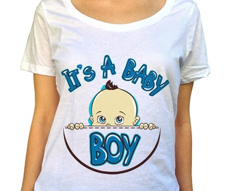 Gender Reveal Shirt - It's A Boy - Baby Reveal - Maternity Clothes - Funny T Shirt - Pregnancy T-Shirt - Maternity Tee - Pregnancy Reveal