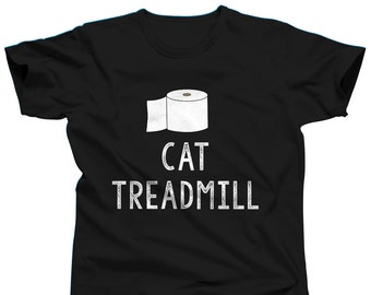 Funny Cat Shirt - Cat Treadmill - Cat T Shirt - Crazy Cat Lady Shirt - Cat Tshirt - Cat Lover Gift - Kitten Shirt - Funny Shirt