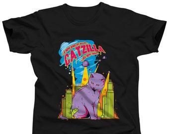 Funny Cat Shirt - Cat T Shirt - Crazy Cat Lady Shirt - Laser Cat Shirt - Cat Tee Shirt - Cat Sleep Shirt - Lucky Cat T Shirt - Cat Print Tee