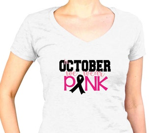 Breast Cancer Awareness Month - Womens Breast Cancer Shirt - Breast Cancer Walk Tshirt - Breast Cancer Survivor Gifts - Breast Cancer Ribbon