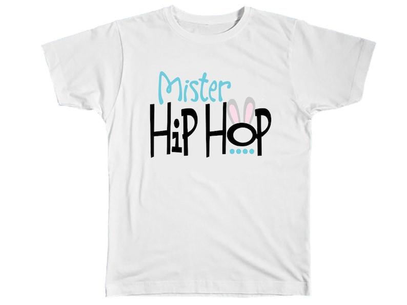 34d82b744 Kids Easter Shirt Mister Hip Hop Easter Bunny Shirt Boys | Etsy